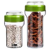 OXONE Liberty Storage Jar 2pcs [OX-303] - Green